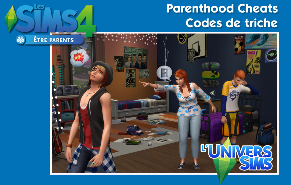 Les Sims 4 - être parents - Parenthood Cheats - Codes de triche