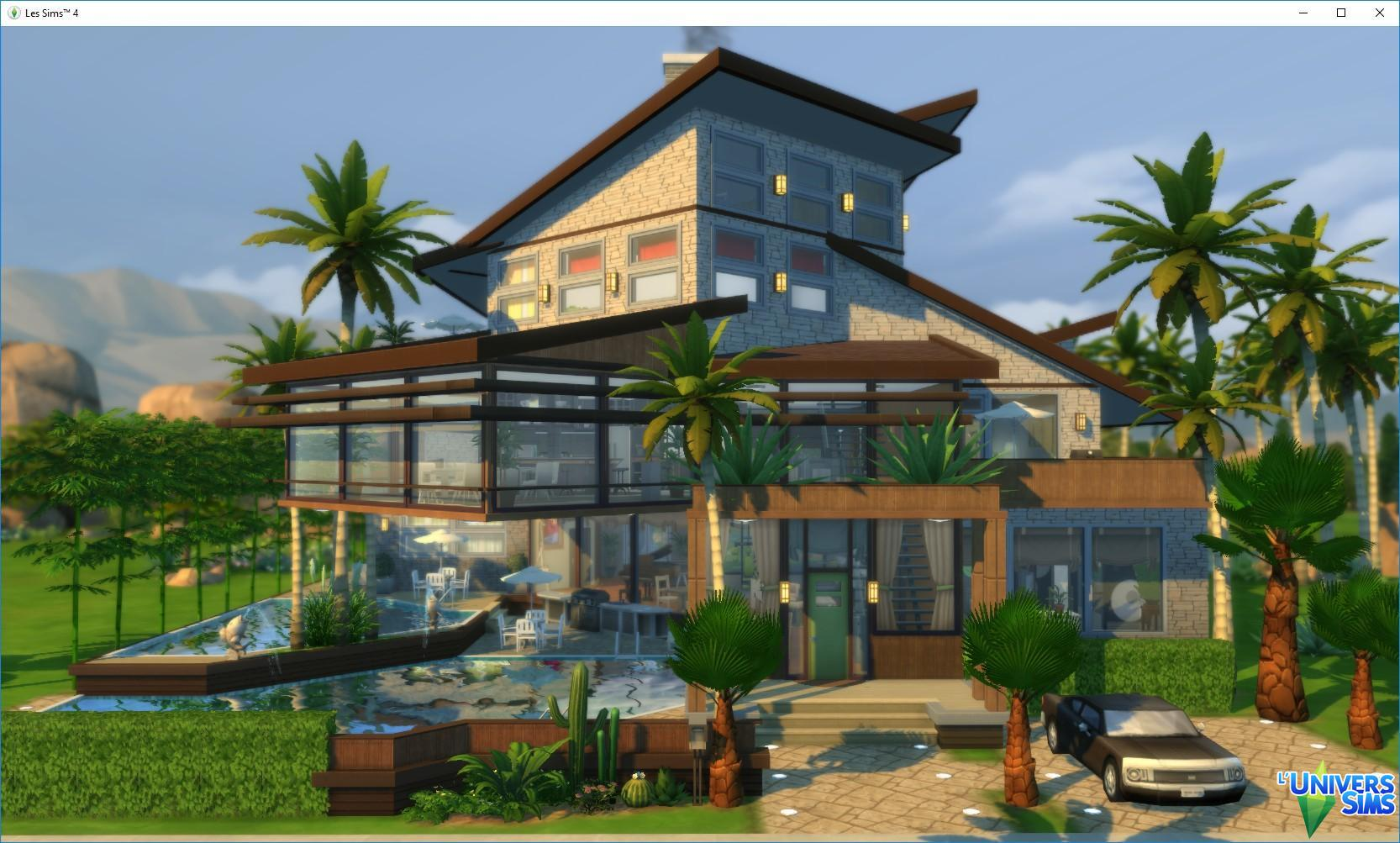 Oasis Modern Base Game Maisons L Universims