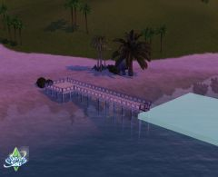 Sims 3 Ile De reve construction port amarrage placer decoration