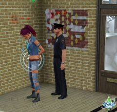 Sims 3 University Competence Art De Rue police