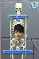 Sims 3 University Competence Science squelette anatomie interaction