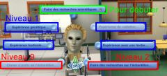 Sims 3 University Competence Science Station recherche scientifique interaction