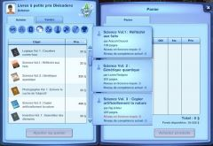 Sims 3 University Competence Science livre achat