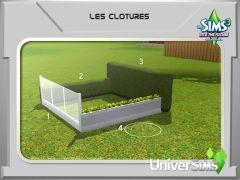 Sims 3 En route vers Le futur Mode construction 1 clotures