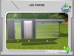 Sims 3 En route vers Le futur Mode construction 2 portes