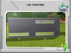 Sims 3 En route vers Le futur Mode construction 4 fenetre