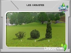 Sims 3 En route vers Le futur Mode construction 11 arbuste