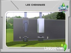 Sims 3 En route vers Le futur Mode construction 8 cheminee