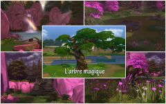 Les Sims 4 Willow Creek arbe magique