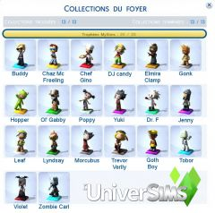 collectibles trophees My sims