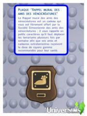competence fuseologie collection alien plaque