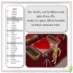 Calendrier Freeplay 2015 avril