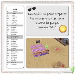 Calendrier Freeplay 2015 aout