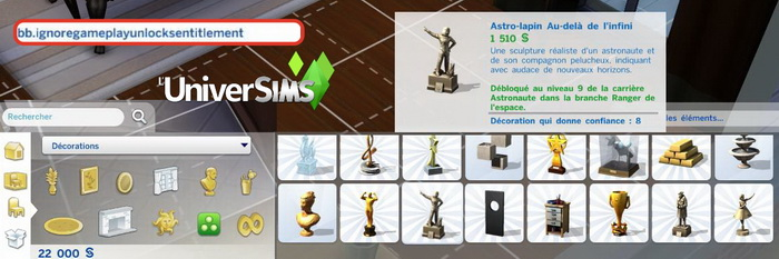Codes de triche - cheats - Sims 4