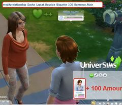 Les Sims 4 cheat codes relation romance amour