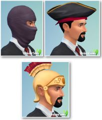 Sims 4 Kit effrayant CAS coiffures hommes