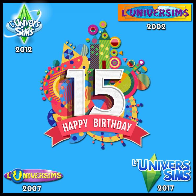 LuniverSims 15 ans