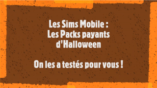 Sims Mobile : packs payants d'Halloween