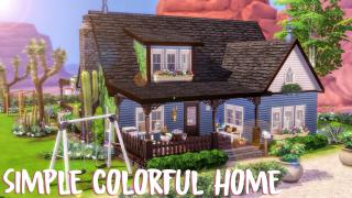 SIMPLE COLORFUL HOME 🌵 || LES SIMS 4 || VISITE (SANS CC)