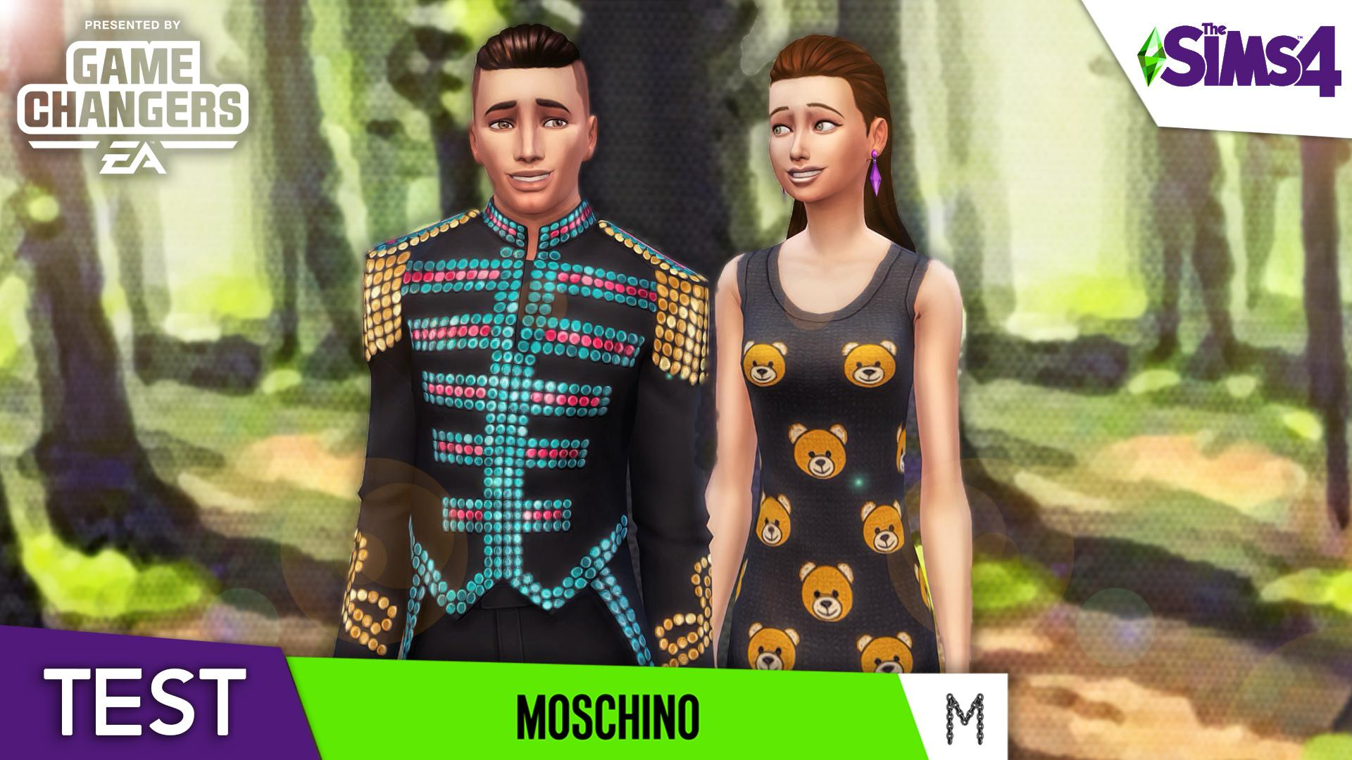 MOSCHINO 📸 CAS, OBJETS & GAMEPLAY    LES SIMS 4