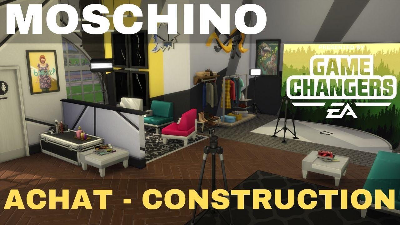 MOSCHINO 👗💎 ACHAT CONSTRUCTION | Les Sims 4