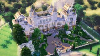 WAYNE MANOR 🦇 Le château de Batman ! - SPEED BUILD FR - Sims 4