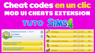 Mod UI cheats extension 💰 Tuto Sims 4 🍌 Banana Sims