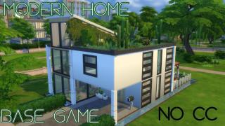 Sims4~speed build~base game~modern home