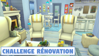 Challenge rénovation Kapands 🛠️ Sims 4 🍌 Banana Sims