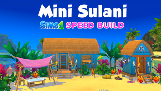 Mini Sulani 🌴 Speed build Sims 4 🍌 Banana Sims