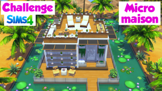 Micro maison shell Cassielle 🌴 Challenge Sims 4 🍌Banana Sims