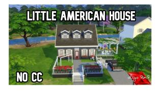 Sims4-Speed Build-Little american house //Base game // NO CC