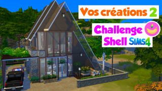 Vos créations 2/2 ❤️ Challenge construction shell Sims 4 🍌 Banana Sims