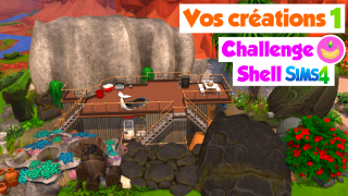 Vos créations 1/2 ❤️ Challenge construction shell Sims 4 🍌 Banana Sims