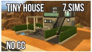 Sims4-Speed Build-Tiny house pour 7 sims !!!