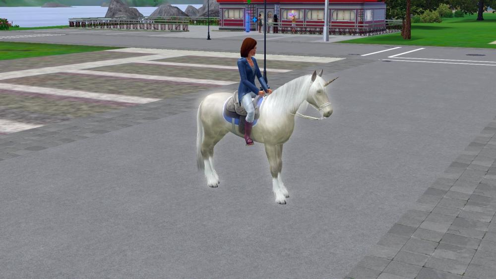 My unicorn horse and my sims female (01).jpg