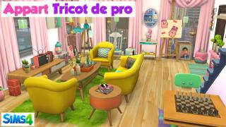 Appart tricot de pro ✂️ Speed build Sims 4 🍌 Banana Sims