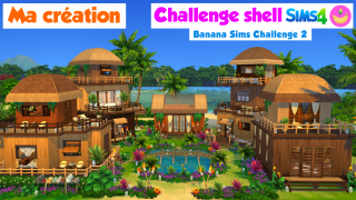 Ma création en stop motion 🌴 Challenge construction shell Sims 4 🍌Banana Sims