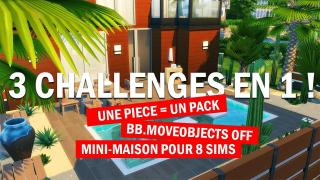 3 CHALLENGES EN 1😰| TINY HOUSE | NO CC | SIMS 4