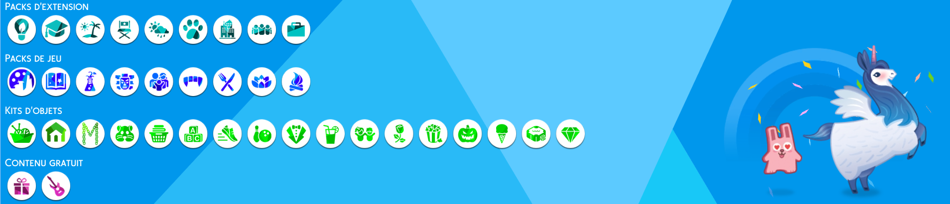 Les Sims 4 - Icones des Packs - New Design - Icons - All Packs