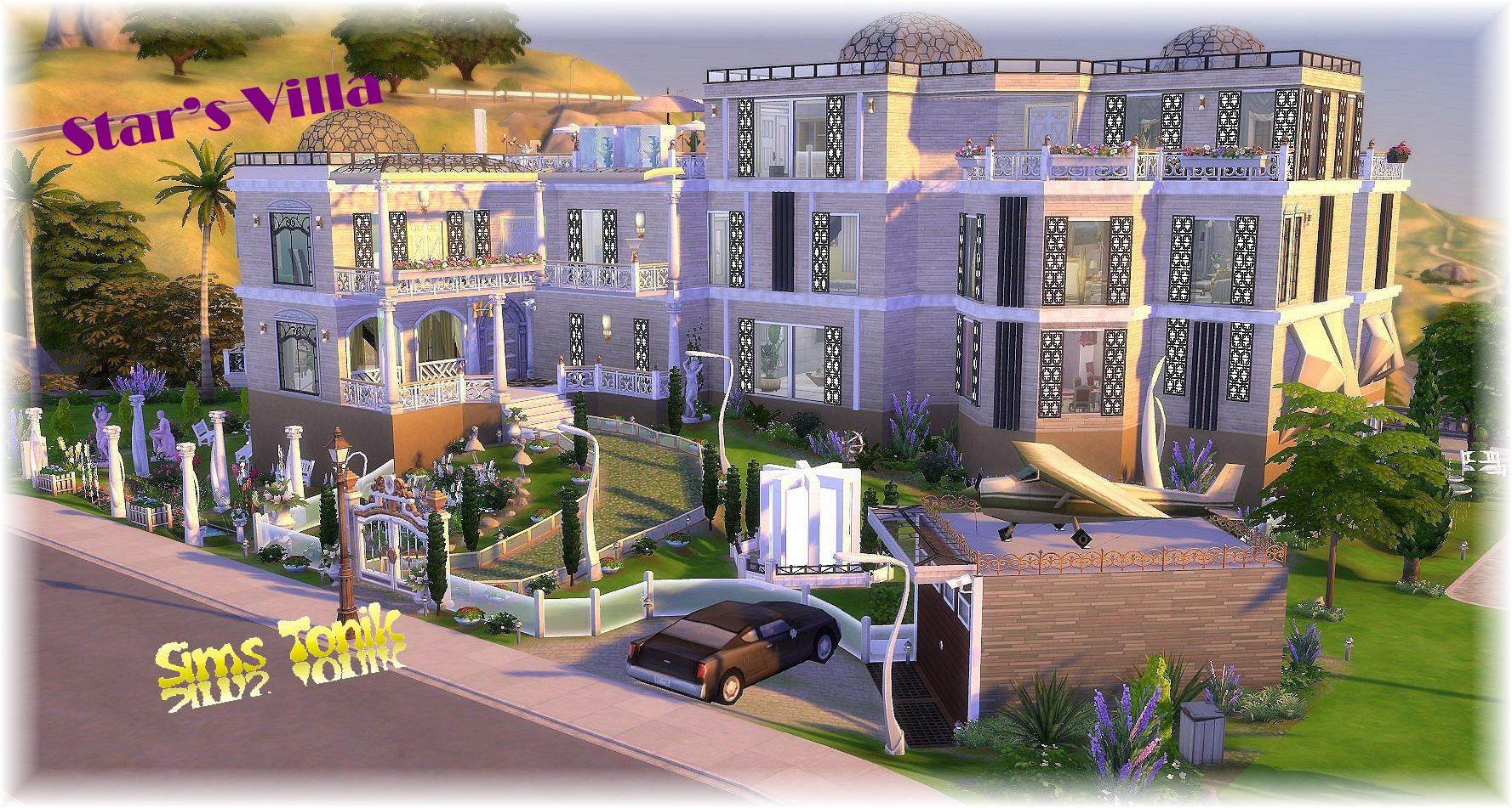 Maisons Star S Villa Vos Creations Sims 4 Luniversims