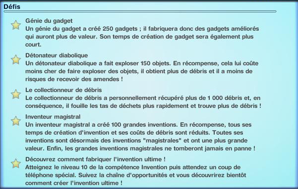 Sims-3-Ambition-Invention-Les-defis