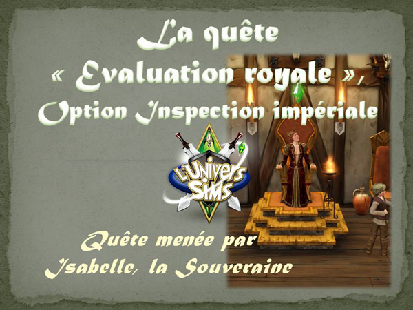 Quete inspection royale-inspection imperiale