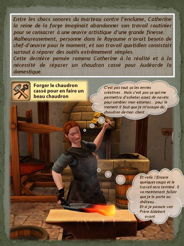 Sims Medieval - Quete tranchant (1)